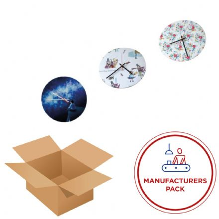 Clock 30cm -  Round- Manufacturing pack  50 Units